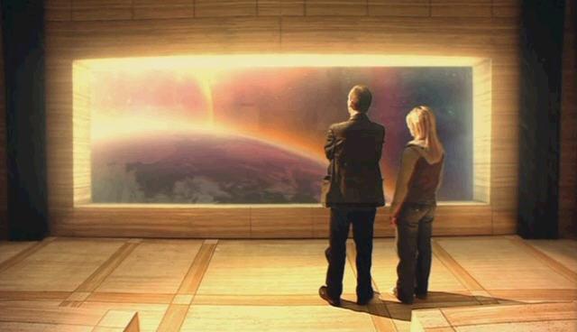 닥터후 시즌1 2화 지구 종말 직전 태양 팽창             구경하는 닥터와 로즈