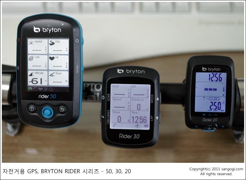 BRYTON RIDER 시리즈인 RIDER50, RIDER30, RIDER20