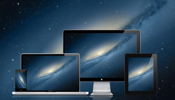 Mac OS X 마운틴 라이언 갤럭시 데스크탑 바탕화면