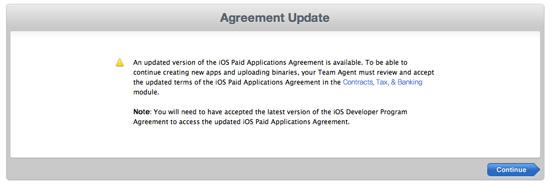iOS Paid Applications Agreement, 새로운 iOS 유료 앱 계약 업데이트 1