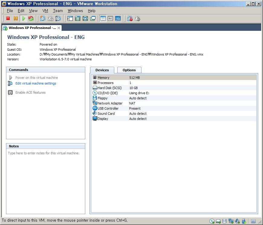 VMware + 영문판 Windows XP 설치