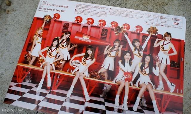 소녀시대 Oh! 초회한정반 뒷면