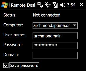 원격으로 접속할 PC의 정보를 입력한 후, Connect를 누릅니다.