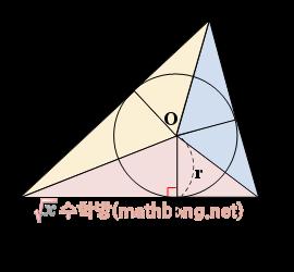 삼각형의 내접원 - 삼각형의 넓이
