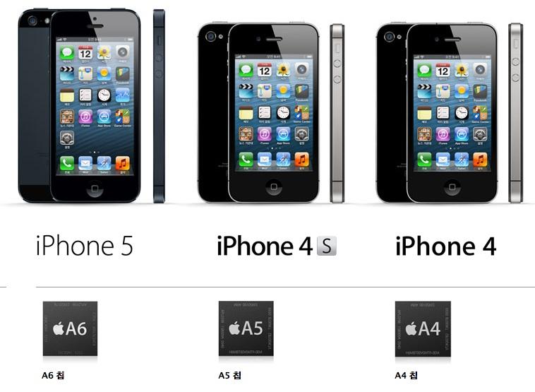 아이폰5 아이폰4s 아이폰4 비교