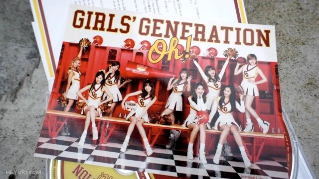 소녀시대 Oh! 초회한정반 스티커