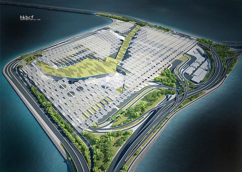 [转载]港珠澳大桥香港口岸国际概念设计比赛