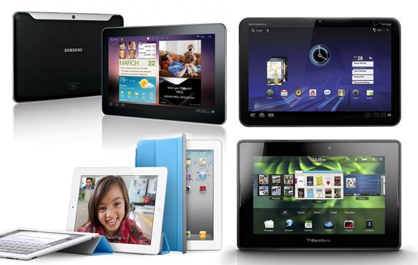 태블릿PC 아이패드2, 갤럭시탭 10.1, 플레이북, 줌