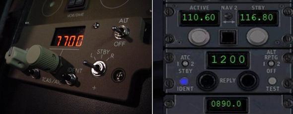Transponder 로 전송하는 Squawk Code