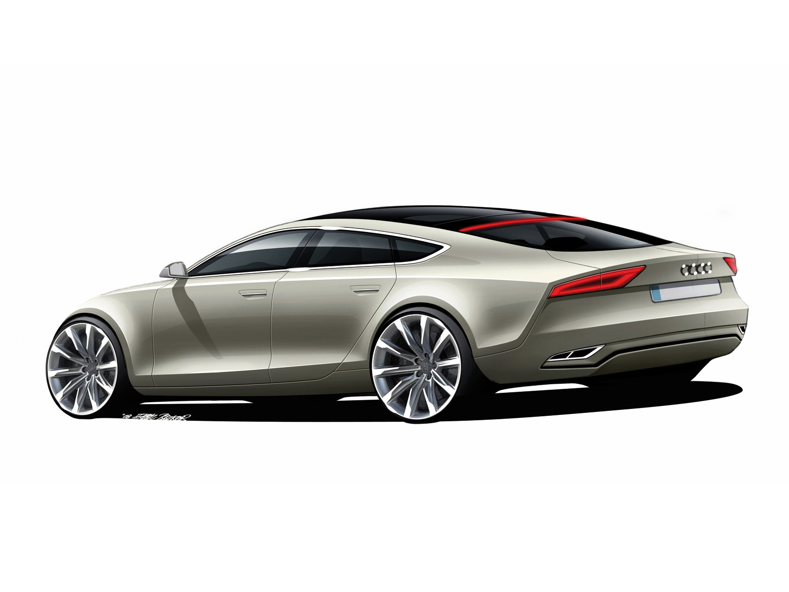 2015 Audi A3 Sedan Rear Side View Photo 35: Jodesign Studio :: Audi Sportback Concept Design Sketch