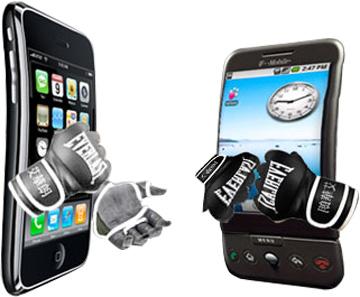 이미지 출처: 구글 이미지 검색, http://www.froogloid.com/wp-content/uploads/iphone_vs_android_ufc.jpg, 일부 수정