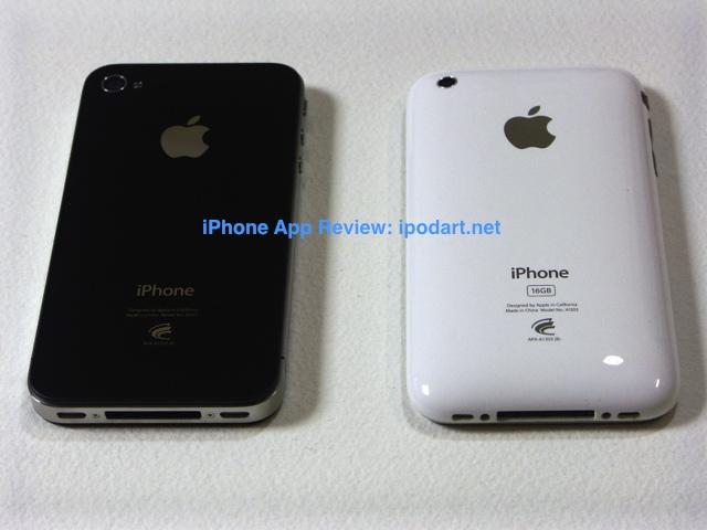 아이폰4 아이폰 3Gs 비교 이미지