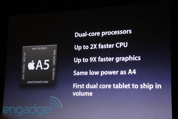 아이패드 2(iPad 2), 성능 향상