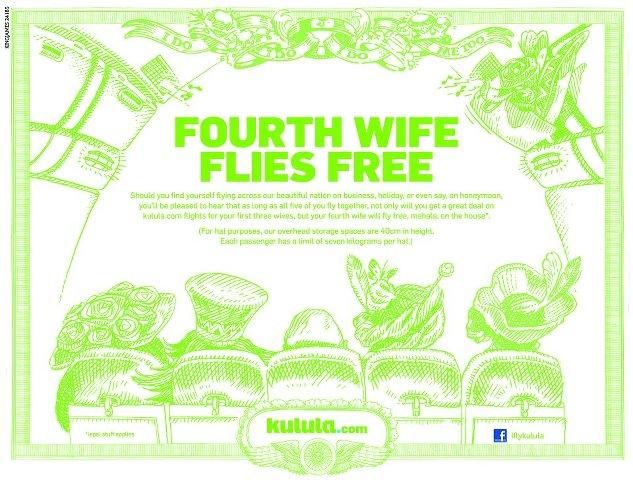 Kulula Airlines 페이스북에 게재된 광고