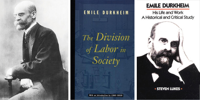 emile durkheim typically the section of workcrews with society
