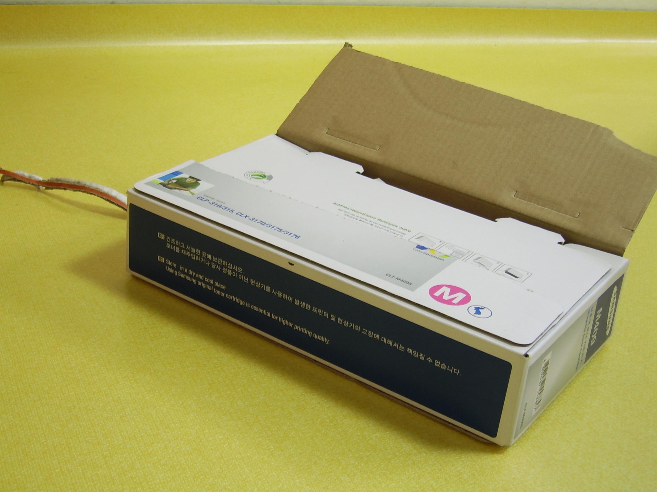 레이저프린터 CLP-315K 토너 개봉