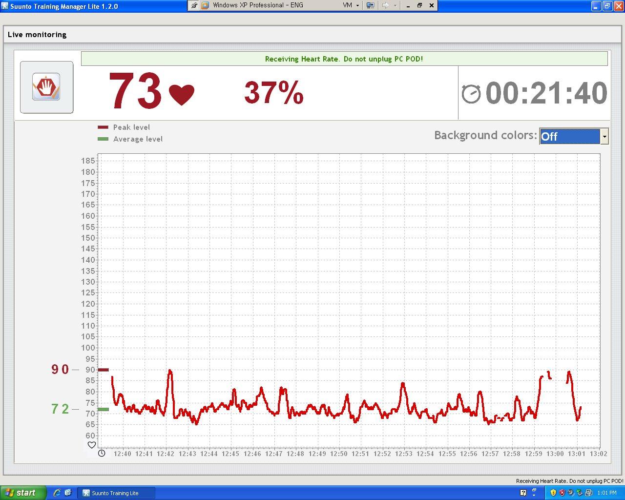 실시간으로 심박수를 PC에서 모니터링 함
