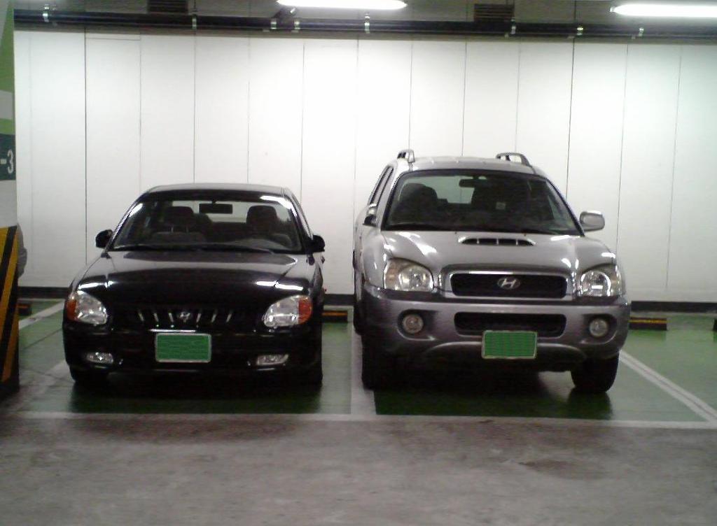 한국주차장에서 자주 볼수 있는 모습