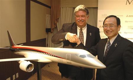 해외 수주에 성공한 미쯔비시 MRJ 항공기