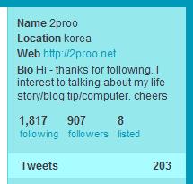 트위터 통계