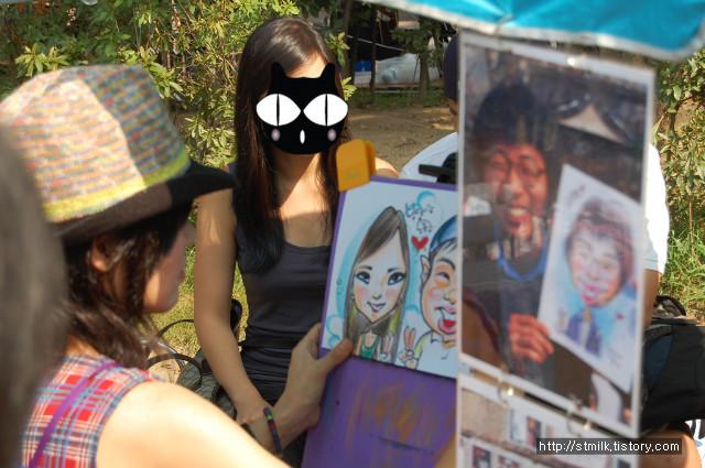 홍대 프리마켓,초상화