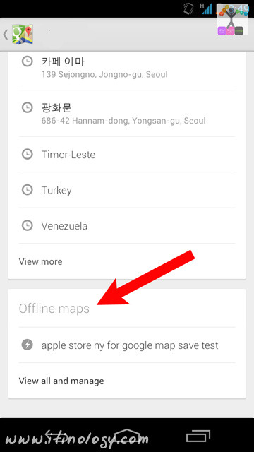 Google Maps Offline Save - Android Google Maps 8.0 - iOS Google Maps 3.0