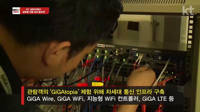 2015 MWCS에서 GiGAtopia 체험을 위해 차세대 통신 인프라 구축