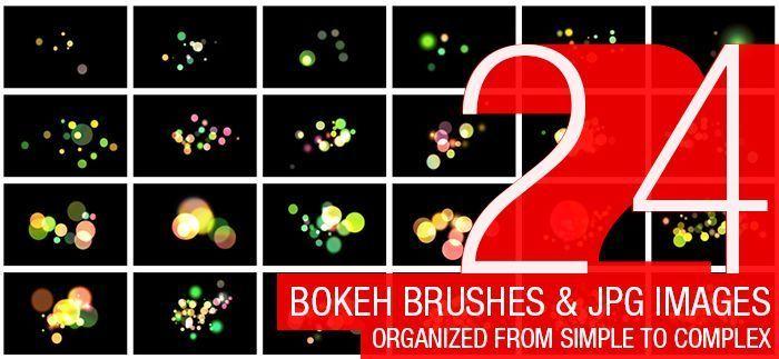 24 가지 무료 포토샵 보케 브러쉬 - 24 Free Abstract Bokeh Brushes