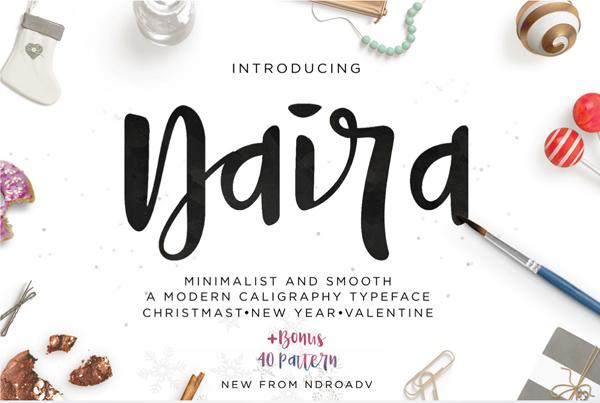 Naira – Free Brush Font