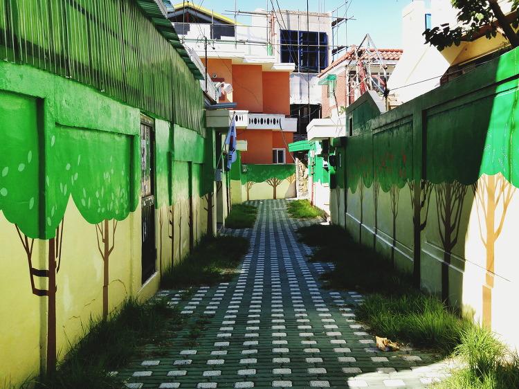 초록이 피어나는 골목길 | 지동벽화마을