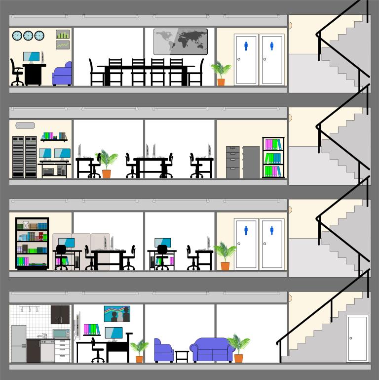 사무실 별 구조