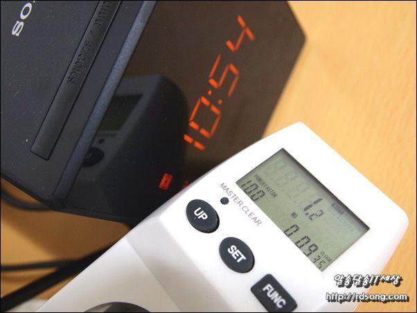 소니 알람시계 라디오 전력소모량