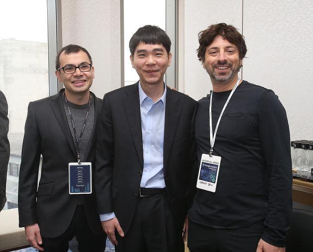 데미스 하사비스 딥마인드 대표, 구글 창업자 세르게이 브린, 이세돌