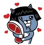 카카오톡 고기 고양이 이모티콘