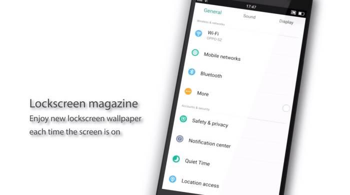 오포,  컬러OS, 2.1.1, 프리뷰, oppo, colorOS, preview, 락스크린, lockscreen