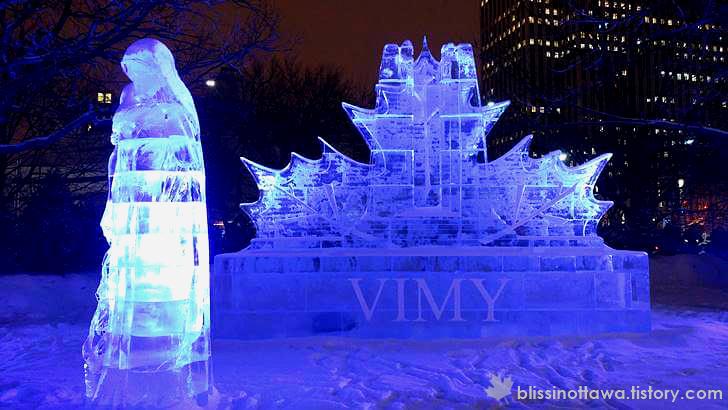 캐나다 전쟁기념비를 표현한 작품입니다