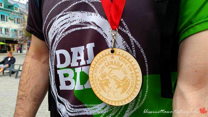 캐나다 컵 MTB 시리즈 메달입니다