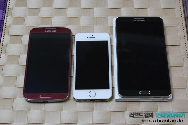 갤럭시S4 아이폰5S 갤럭시노트3
