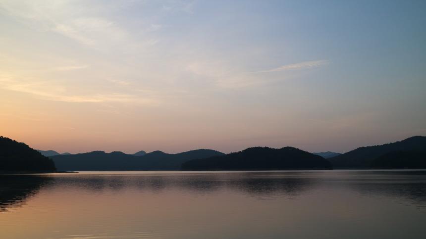 대청호 새벽풍경