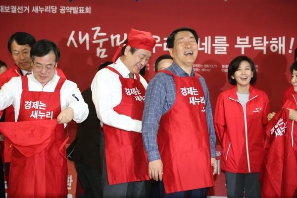 김무성 대표와 안상수 후보