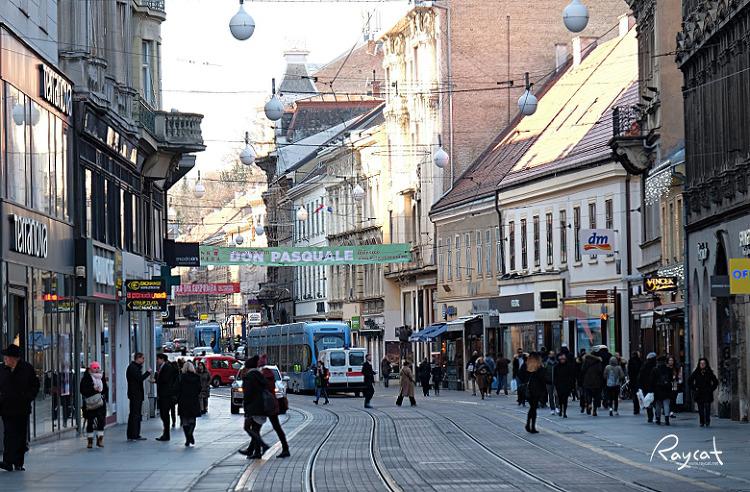 옐라치치 광장 거리의 모습