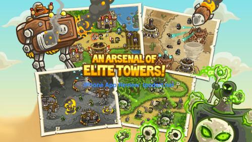 Kingdom Rush Frontiers 아이폰 아이패드 추천 디펜스 게임