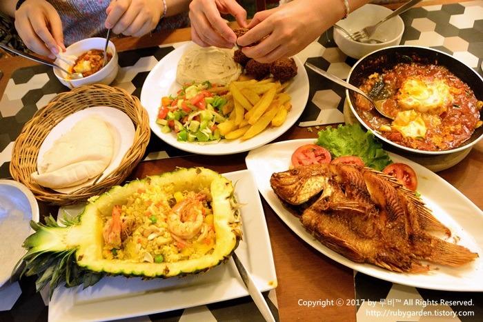 태국 여행 / 방콕 맛집 / 중동 요리 / 카오산로드 이스라엘 음식점 쇼샤나(Shoshana Restaurant)