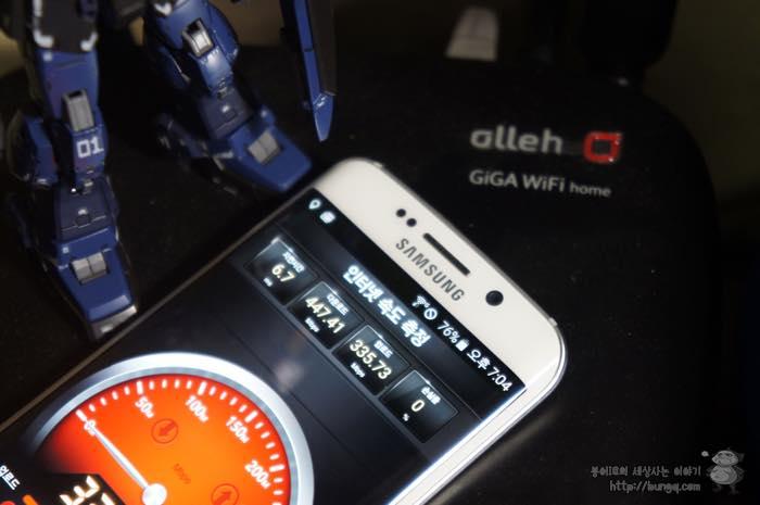 갤럭시s6엣지, 갤럭시s6, 엣지, 기가와이파이, giga, wifi, 속도, 측정