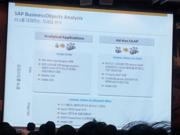 SAP BO Analysis 설명