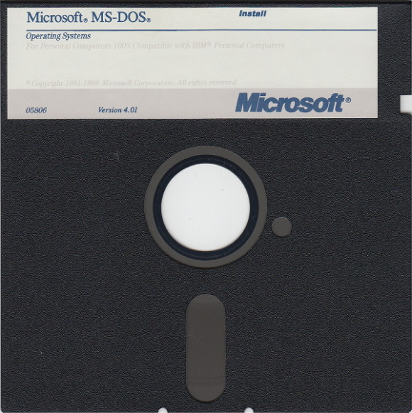 ms-dos 5.25 floppy disc