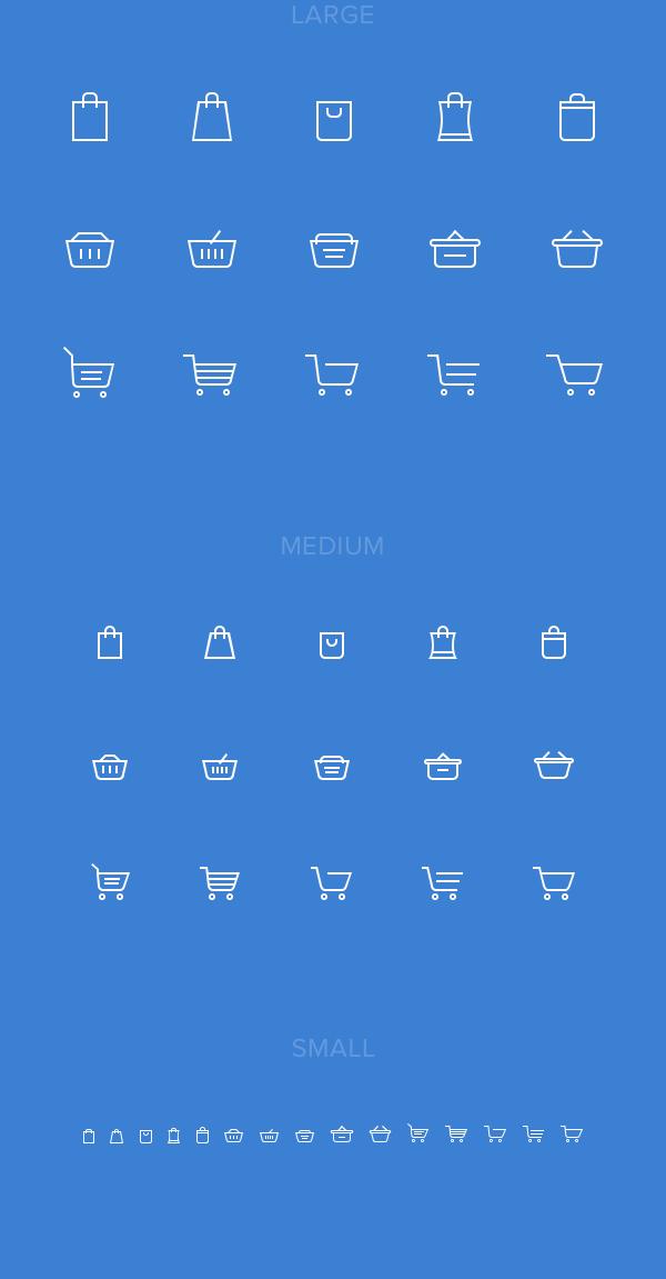 15 가지 무료 벡터 쇼핑백/쇼핑바구니/쇼핑카트 아이콘 - 15 Free Vector Shopping Bag/Basket/Cart Icons