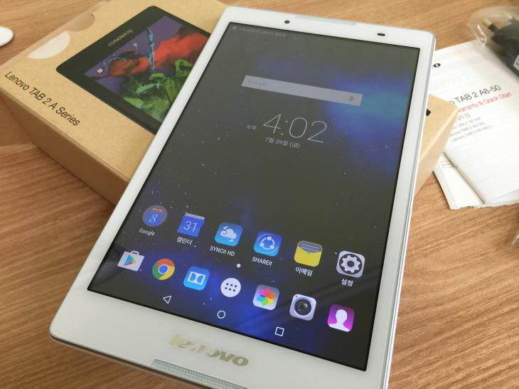 저렴한 8인치 태블릿 레노버 탭2 A8-50
