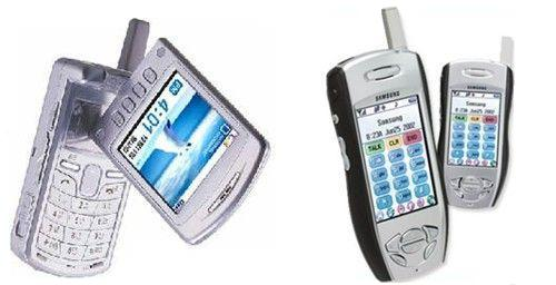 삼성에서 출시한 Palm OS를 채택한 PDA & 휴대전화들