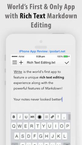 Write for iPhone 아이폰 추천 베스트 앱 2013